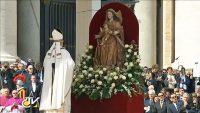 聖母子像とパパ様
