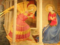 フラ・アンジェリコ画「受胎告知」
