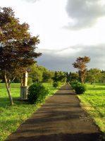 聖体奉仕会敷地内の十字架の道行「小羊の苑」