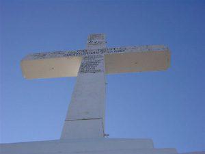 山上の十字架