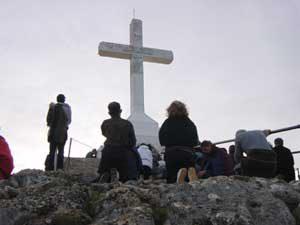 クリジェバツ山上の十字架