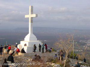 クリジェバツ山頂の十字架