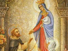 アイキャッチ用 ご絵「聖ドミニコにロザリオを与える聖母」