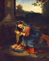 幼子イエスを礼拝する聖母(コレッジョ画)
