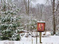 雪中の聖母のイコン