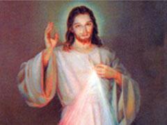 アイキャッチ用 ご絵「いつくしみのイエスと教皇様」