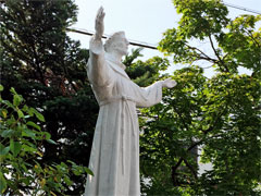 アイキャッチ用 アシジの聖フランシスコ像(長野・上田教会)