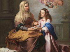 「聖母に読むことを教える聖アンナ」(ムリーリョ画)