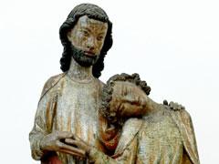 アイキャッチ用 キリストの胸に頭を預ける使徒ヨハネ(ベルリン・ボーデ博物館)