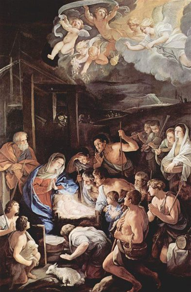 羊飼いたちの礼拝(グイド・レーニ画)