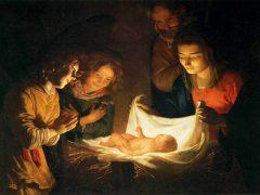 幼児イエスを礼拝する聖母(ヘラルト・ファン・ホントホルスト画)
