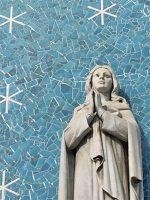 玉造教会正面聖母像