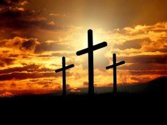 夕暮れの十字架