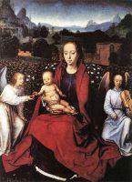 バラ園の聖母子と二位の天使(ハンス・メムリンク画)