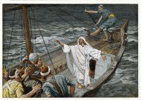 嵐を静めるイエス(ジェームズ・ティソ画)