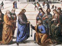 聖ペトロへの天国の鍵の授与(ピエトロ・ペルジーノ画)