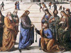 聖ペテロへの天国の鍵の授与(ピエトロ・ペルジーノ画)