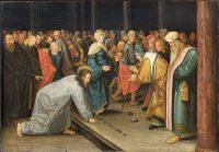 キリストと姦通の女(ピーテル・ブリューゲル画)