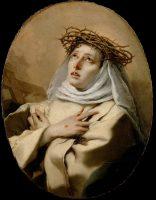 シエナの聖カタリナ(ジョヴァンニ・バッティスタ・ティエポロ画)
