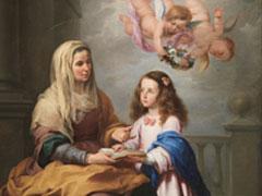 アイキャッチ用 「聖母に読むことを教える聖アンナ」(ムリーリョ画)