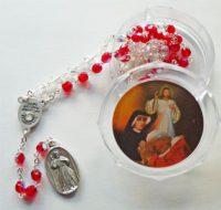 (イタリア製)聖ファウスティナの聖遺物付きチャプレット