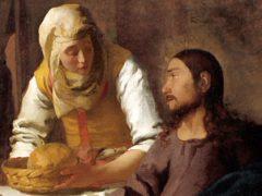 アイキャッチ用 マリアとマルタの家のキリスト(フェルメール画)