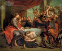 イエスの足を拭うマグダラのマリア(ヤーコプ・アンドリース・ベッチィ画)
