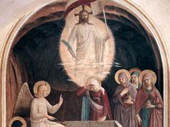 アイキャッチ用 復活したキリストと墓にいる婦人たち