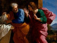 アイキャッチ用 キリストの墓での聖ペトロと聖ヨハネ