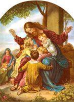 イエスと幼い子供たち(カール・クリスチャン・フォーゲル・フォン・フォーゲルシュタイン画)