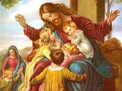 アイキャッチ用 イエスと幼い子供たち