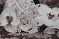 真珠と花束