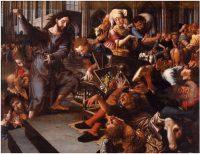 イエス、神殿から両替商を追い出す(ヤン・サンダース・ファン・ヘメッセン画)