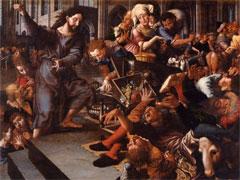 アイキャッチ用 イエス、神殿から両替商を追い出す