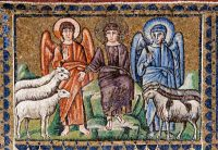 羊とヤギを分ける(ビザンチン・モザイク)