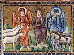 アイキャッチ用 羊とヤギを分ける(ビザンチン・モザイク)