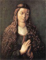 髪をほどいた若い女性の肖像(アルブレヒト・デューラー画)