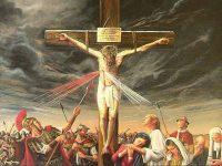 「兵士の一人が槍でイエスの脇腹を刺した。すると、すぐ血と水とが流れ出た。」(ヨハネ19・34)