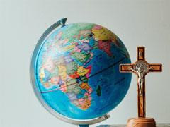 アイキャッチ用 世界と十字架と