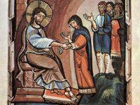 聖ペトロの義母の癒し(ヒトダ福音書写本より)