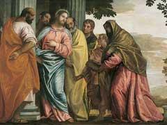 アイキャッチ用 キリスト、ゼベダイの妻と息子たちと会う