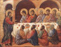 食卓の使徒たちへの出現(ドゥッチョ・ディ・ブオニンセーニャ画)