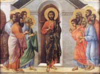閉ざされた扉のうちに現れたキリスト(ドゥッチョ・ディ・ブオニンセーニャ画)
