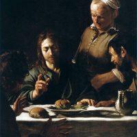 エマオの晩餐(カラバッジョ画)(1606年 部分)