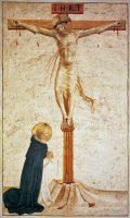 十字架と聖ドミニコ(フラ・アンジェリコ画)