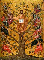 真のぶどうの木であるキリスト(16世紀のイコン)