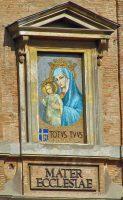 教会の母(バチカン宮殿モザイク画)