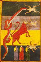 カエルを吐く獣・ドラゴン・偽預言者(ファクンドゥス写本 1047年)