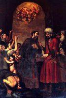 奴隷を解放するノラの聖パウリノ司教(ジョヴァンニ・ベルナルディーノ・アッツォリーノ画)