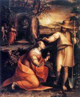マグダラのマリアに出現されたイエス(ラヴィニア・フォンターナ画)